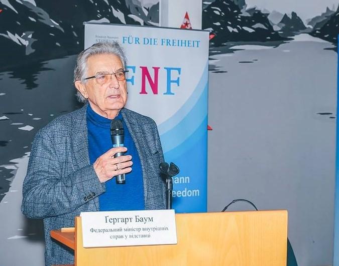 У Львові відбудеться презентація книги «Врятуйте фундаментальні права!»  з автором Ґергартом Баумом