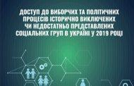 Доступ до виборчих та політичних процесів історично недостатньо представлених соціальних груп в Україні у 2019 pоці
